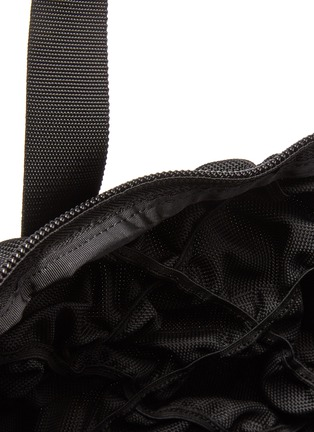 Detail View - Click To Enlarge - ALEXANDERWANG - 'Rebound' Logo Print Diamond Quilt Ruched Nylon Backpack