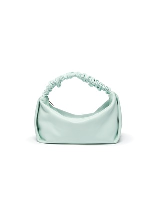 Main View - Click To Enlarge - ALEXANDERWANG - 'SCRUNCHIE' RUCHED HANDLE LEATHER BAGUETTE BAG