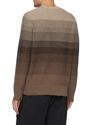 Back View - Click To Enlarge - THEORY - Burton' Gradient Coloured Cashmere And Wool Blend Knit Sweater