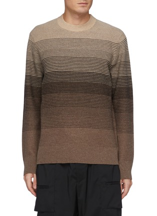 Main View - Click To Enlarge - THEORY - Burton' Gradient Coloured Cashmere And Wool Blend Knit Sweater
