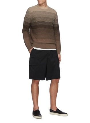 Figure View - Click To Enlarge - THEORY - Burton' Gradient Coloured Cashmere And Wool Blend Knit Sweater