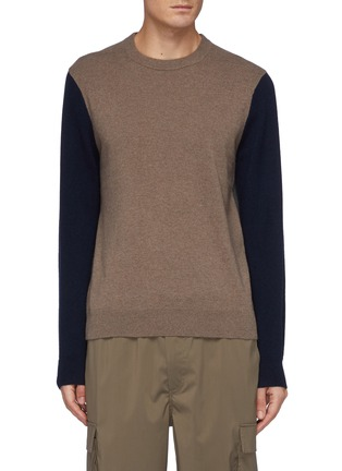 Main View - Click To Enlarge - THEORY - Milan' Colourblock Cashmere Crewneck Sweater