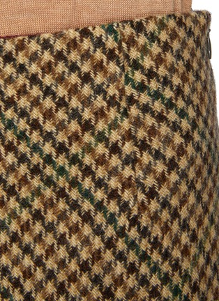 - MAISON MARGIELA - Houndstooth Wool Midi Skirt