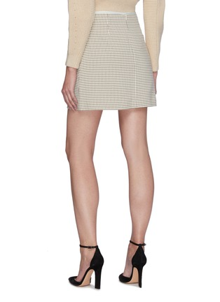 Back View - Click To Enlarge - SELF-PORTRAIT - Flap Pocket Check Mini Skirt
