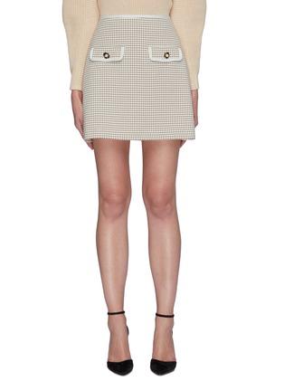 Main View - Click To Enlarge - SELF-PORTRAIT - Flap Pocket Check Mini Skirt
