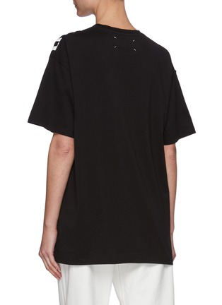 Back View - Click To Enlarge - MAISON MARGIELA - AIDS Charity Logo Print T-shirt