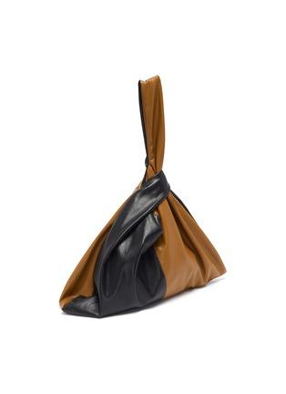 Detail View - Click To Enlarge - NANUSHKA - 'Jen' Duo-tone Colourblock Wristlet Vegan Leather Bag