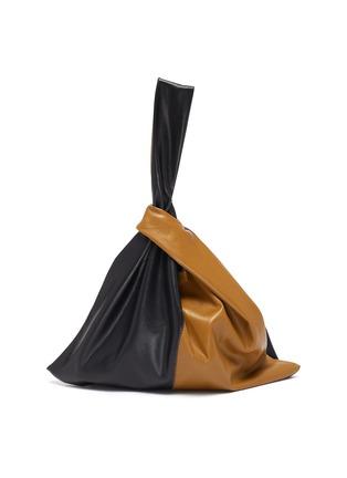 Main View - Click To Enlarge - NANUSHKA - 'Jen' Duo-tone Colourblock Wristlet Vegan Leather Bag