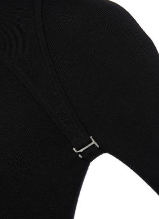 - DION LEE - Hybrid Detachable Shrug E-hook Detail Top