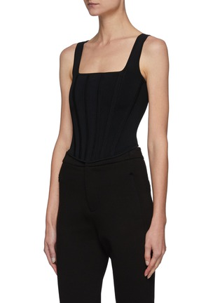 Detail View - Click To Enlarge - DION LEE - Hybrid Detachable Shrug Tank Top