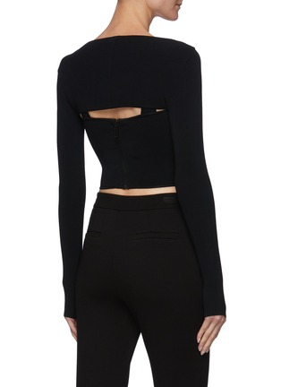 Back View - Click To Enlarge - DION LEE - Hybrid Detachable Shrug Tank Top