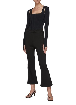 Figure View - Click To Enlarge - DION LEE - Hybrid Detachable Shrug Tank Top
