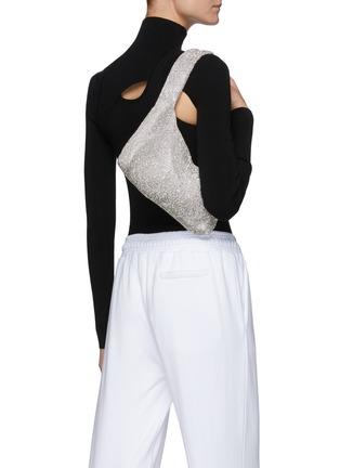 Figure View - Click To Enlarge - KARA - Crystal mesh shoulder bag