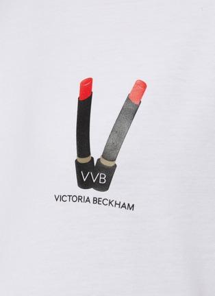 - VICTORIA, VICTORIA BECKHAM - Lipstick logo print T-shirt