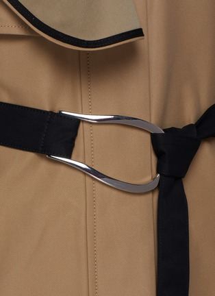 - VICTORIA, VICTORIA BECKHAM - Drape Detail D-ring Belted Trench Coat