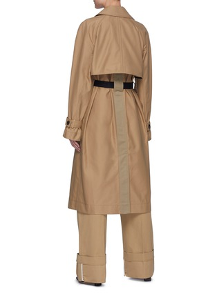 Back View - Click To Enlarge - VICTORIA, VICTORIA BECKHAM - Drape Detail D-ring Belted Trench Coat