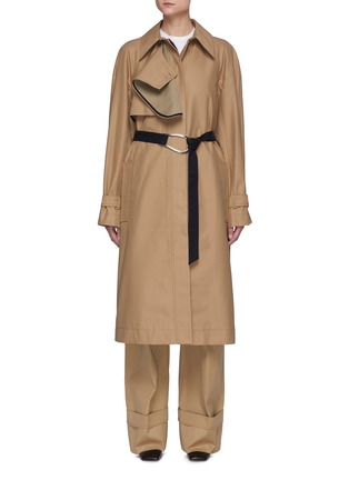 Main View - Click To Enlarge - VICTORIA, VICTORIA BECKHAM - Drape Detail D-ring Belted Trench Coat