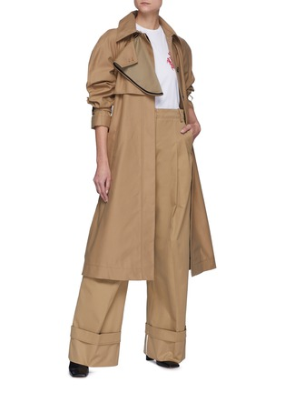 Figure View - Click To Enlarge - VICTORIA, VICTORIA BECKHAM - Drape Detail D-ring Belted Trench Coat