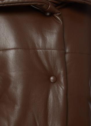 - NANUSHKA - Funnel Collar Vegan Leather Puffer Jacket
