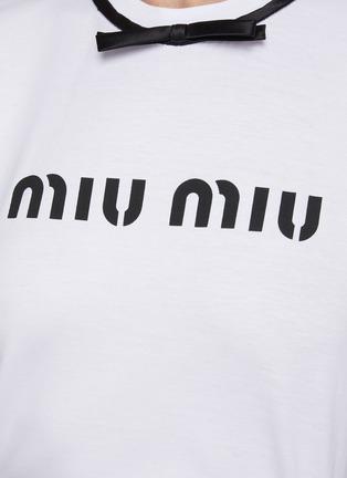 - MIU MIU - Bow Detail T-shirt