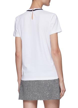 Back View - Click To Enlarge - MIU MIU - Bow Detail T-shirt