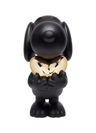 Main View - Click To Enlarge - LEBLON DELIENNE - Limited Edition Snoopy Heart Sculpture – Black Matt/Chromed Gold