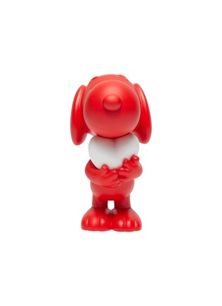 Main View - Click To Enlarge - LEBLON DELIENNE - Snoopy Heart Sculpture – Matt Red/White