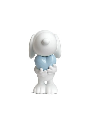 Main View - Click To Enlarge - LEBLON DELIENNE - Glossy heart Snoopy sculpture – Matt white/Glossy blue