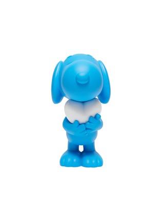Main View - Click To Enlarge - LEBLON DELIENNE - Snoopy Heart Sculpture – Matt Blue/White