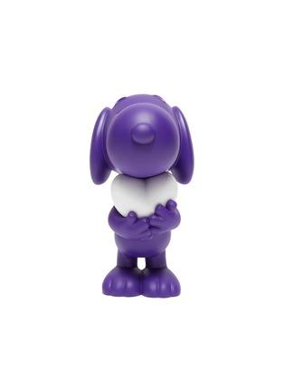 Main View - Click To Enlarge - LEBLON DELIENNE - Snoopy Heart Sculpture – Matt Purple/White