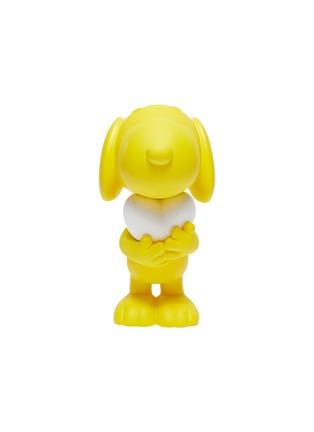 Main View - Click To Enlarge - LEBLON DELIENNE - Snoopy Heart Sculpture – Matt Yellow/White