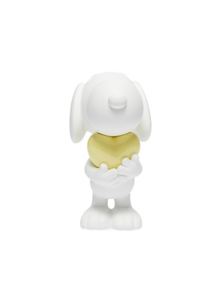 Main View - Click To Enlarge - LEBLON DELIENNE - Snoopy Heart Sculpture – Matt White/Glossy Yellow