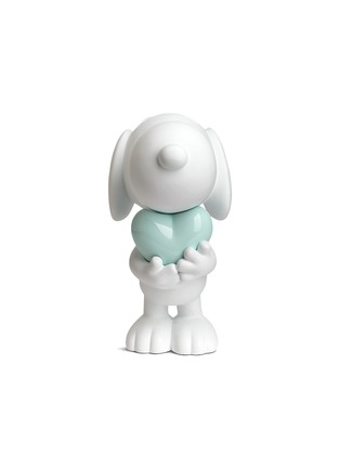 Main View - Click To Enlarge - LEBLON DELIENNE - Glossy heart Snoopy sculpture – Matt white/Glossy green