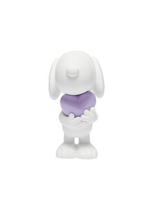 Main View - Click To Enlarge - LEBLON DELIENNE - Snoopy Heart Sculpture – Matt White/Glossy Purple
