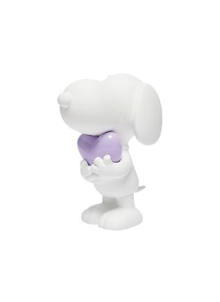 - LEBLON DELIENNE - Snoopy Heart Sculpture – Matt White/Glossy Purple