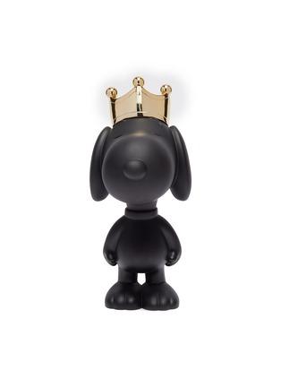 Main View - Click To Enlarge - LEBLON DELIENNE - Snoopy Crown Sculpture – Matt Black/Gold