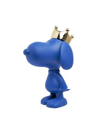 Main View - Click To Enlarge - LEBLON DELIENNE - Chromed gold crown Snoopy sculpture – Blue matt/Gold
