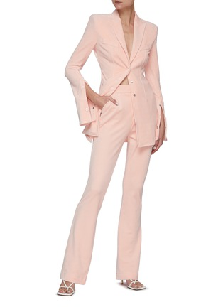 Figure View - Click To Enlarge - ALEXANDERWANG - Stretch velour blazer