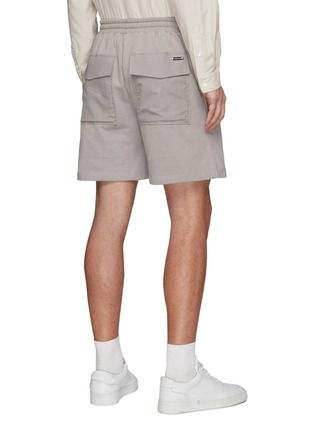 Back View - Click To Enlarge - PRIVATE POLICY - Flap Pocket Drawstring Sweatshorts