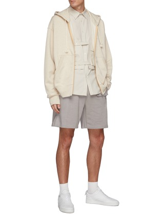 Figure View - Click To Enlarge - PRIVATE POLICY - Flap Pocket Drawstring Sweatshorts