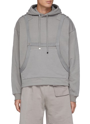 Main View - Click To Enlarge - PRIVATE POLICY - Harness Detail Hoodie