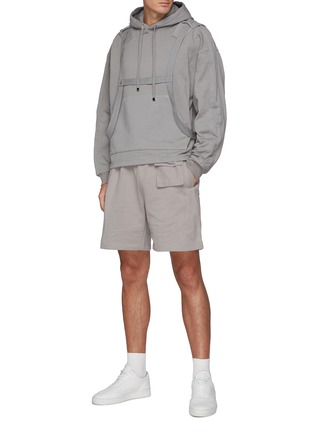 Figure View - Click To Enlarge - PRIVATE POLICY - Harness Detail Hoodie