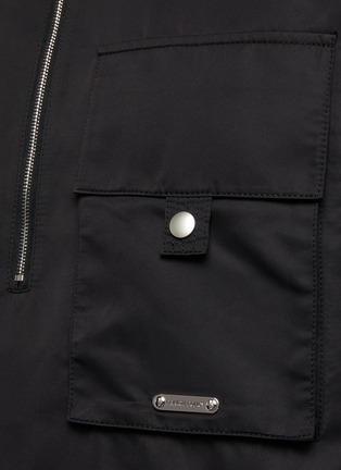 - PRIVATE POLICY - Back Harness Detail Front Pocket Anorak Jacket