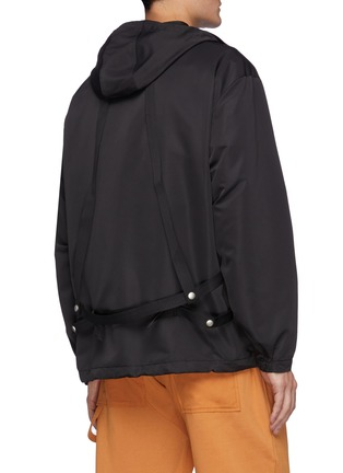 Back View - Click To Enlarge - PRIVATE POLICY - Back Harness Detail Front Pocket Anorak Jacket