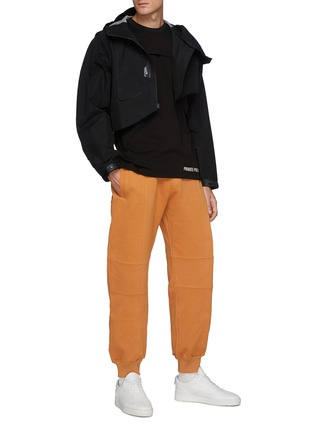 Figure View - Click To Enlarge - PRIVATE POLICY - Metal Ring Detail Drawstring Waist Sweatpants