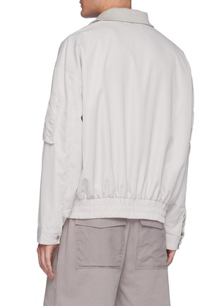 Back View - Click To Enlarge - PRIVATE POLICY - Gun Pouch Flap Pocket Harness Detail Overlay Bomber Jacket