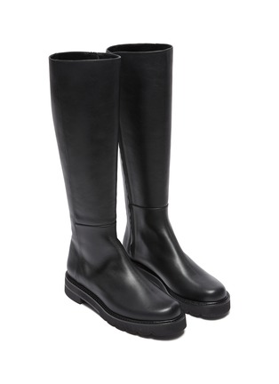 Detail View - Click To Enlarge - STUART WEITZMAN - Mila Lift' Almond Toe Leather Knee-high Boots
