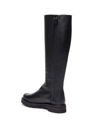 - STUART WEITZMAN - Mila Lift' Almond Toe Leather Knee-high Boots