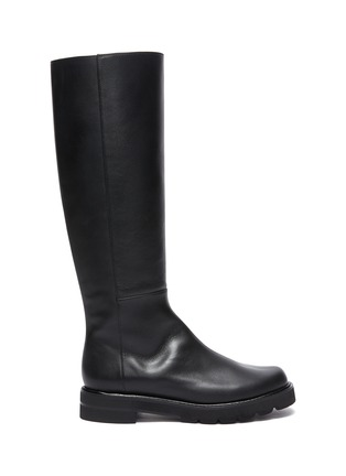 Main View - Click To Enlarge - STUART WEITZMAN - Mila Lift' Almond Toe Leather Knee-high Boots