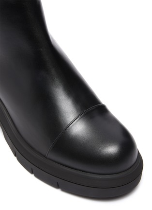 Detail View - Click To Enlarge - STUART WEITZMAN - Norah' Chunky Heel Leather Chelsea Boots